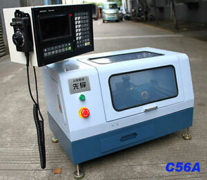 C56a 220v Adtech Micro Mini Cnc Lathe Machine Hardware Steel Metal Woodworking