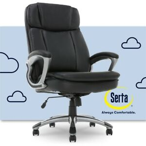 Serta Big And Tall Executive Office Chair Black Bonded Leather