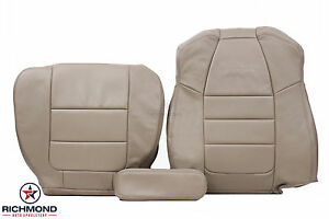 01 03 Ford F250 F350 Lariat X cab Quad driver Complete Leather Seat Covers Tan