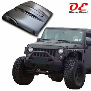 Jeep Jk Wrangler Rubicon Steel Heat Expulsion Metal Vented Hood 07 16 Paintable