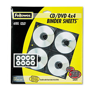 Two sided Cd dvd Refill Sheets For Three ring Binder 25 pack