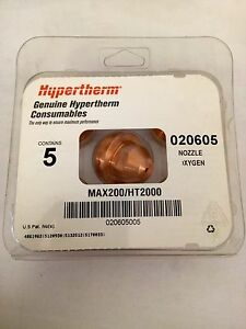 Hypertherm 020605 200a Oxygen Cutting Nozzle Fits Max200 ht2000 Lot Of 5