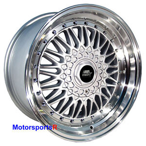 Mst Wheels Mt13 Rims 16 X 8 20 Silver Deep Lip 5x114 3 Stance Acura Rsx Type S