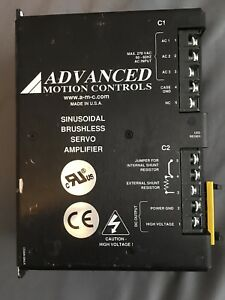 Advanced Motion Controls Sinusoidal Brushless Servo Amplifier