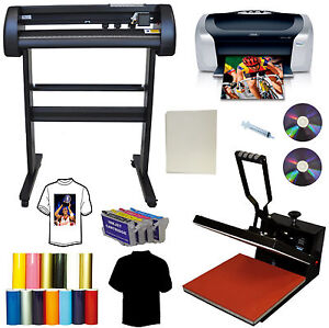 24 500g Laserpoint Vinyl Cutter Plotter 15x15 Heat Transfer Press printer ink