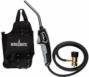 Self igniting Hose Torch Map Gas Propane Fuel Holster Adjustable Flame Soldering