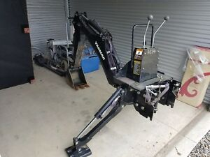 2016 Yanmar B65 Backhoe Attachment With 3 Point Hitch Adapter 50hrs