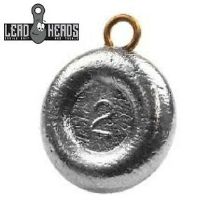 Lead Heads (30 PC) Choice Size Round River Coin Fishing Sinkers Fishing Weights