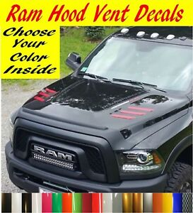 Hood Vent Decals Inserts Stickers Fits 2010 2018 Dodge Ram 2500 3500 Hd