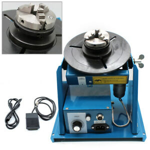 2 5 Rotary Welding Positioner Turntable Table 3 Jaw Lathe Chuck 2 10rpm 110v