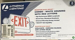 Lithonia Lighting Red Led Combo Exit emergency Light With Back Up Battery