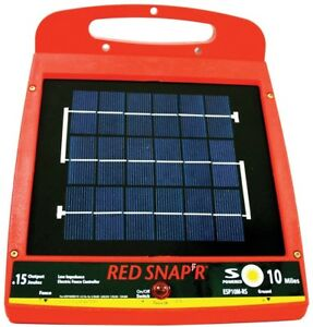 Solar Powered Fence Charger Save Electric Bill Control Livestock Wire Posts