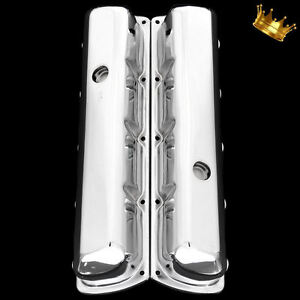 Chrome Tall Oldsmobile Valve Covers Fits 330 350 455 Olds Engines 1964 1975