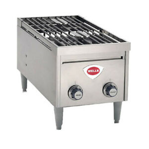 Wells H 2412g Gas 2 Burner Instant On Countertop Hot Plate