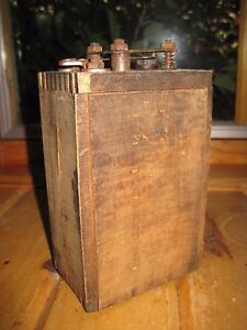 Vintage Kingston Wooden Ignition Coil Kokomo Electric Co Model T 1909 3 Ford