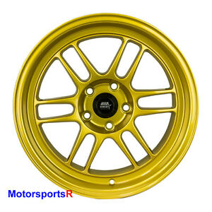 Mst Suzuka Wheels 18 X 9 5 12 11 10 Gold Deep Dish Lip Staggered Rims 5x4 5