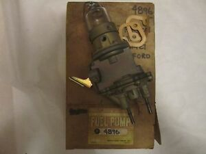60 62 Ford Mercury 6cyl Dual Action Vacuum Fuel Pump Nors 4896