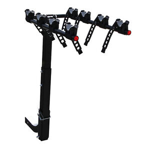 4 Bike 2 Hitch Mount Rear Rack Foldable Car Carrier Truck Trailer Bicycle