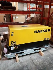 New Kaeser M50 Skid Mount M58 185 Cfm Air Compressor Free Shipping