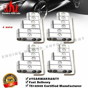 4 Sets Chrome Wire Separators Spark Plug Dividers Looms Ignition 7 8mm For Ford