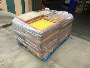 Pallet Lot Of 73 Used Wood Silk Screen Printing Frames Mostly 20 X 24