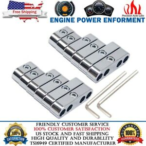 2sets 7mm 8mm Chrome Spark Plug Wire Separators Looms For Ford Chevy 302 350 454