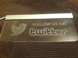 Led Sign Follow Us On Twitter