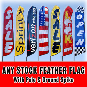 Any 15 Stock Tall Swooper Sign Advertising Flag Feather Banner Pole