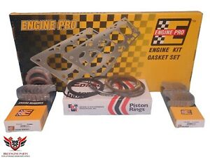 Engine Pro Chevy Sbc 327 350 5 7 Re Ring Rebuild Kit With Main Bearings 80 85