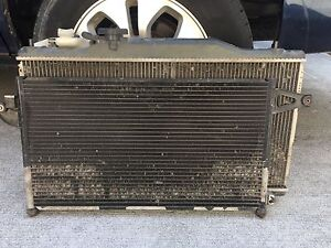 2005 2006 Acura Rsx Base Automatic A c Condenser Radiator Fans Oem 05 06