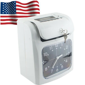 Electronic Employee Analogue Time Recorder Time Clock W card Monthly weekly Top