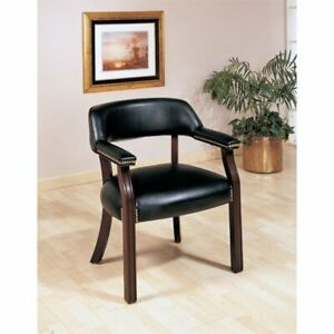 Coaster Upholstered Office Guest Chair With Nailhead Trim In Black