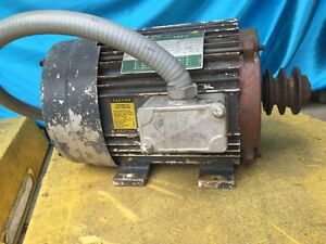 5 Hp Lincoln Electric Motor Three Phase 1745 Rpm