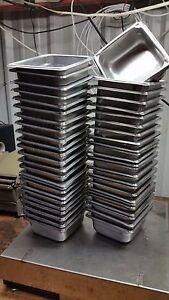 53 Steam Buffet Table Pan 7 X 6 3 8 X 2 1 2 D Stainless Steel Half Third Quarter