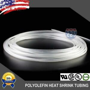 50 Ft 50 Feet Clear 1 8 3mm Polyolefin 2 1 Heat Shrink Tubing Tube Cable Us