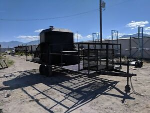 Industrial Smoker Bbq Trailer 1000lbs Cap