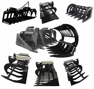 Light Hd And Extreme Duty Skid Steer Brush Rock Root Tine Etc Grapple