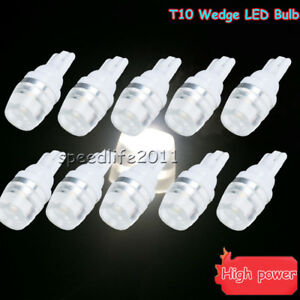 10pcs T10 Wedge High Power 1w Led Light Bulbs Xenon White 192 168 194 120lm Us