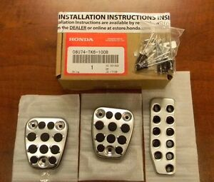 Genuine Honda Oem Honda Cr v Fit Manual Sport Pedal Covers 08u74 tk6 100b