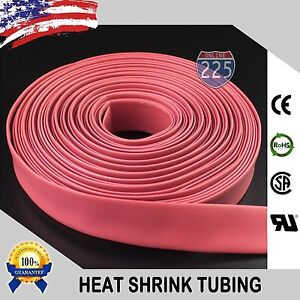 100 Ft 100 Feet Red 1 25mm Polyolefin 2 1 Heat Shrink Tubing Tube Cable Us