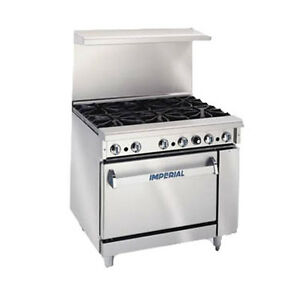 Imperial Ir 6 c Six Burner 36 Gas Restaurant Range With Convection Oven