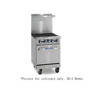 Imperial Ir 4 e 24 Electric Restaurant Range With Round Elements