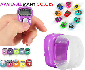 Digital Finger Ring Tally Counter Head Count Knitting Row Counter Tasbee Job Lot