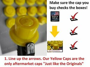 25 Blitz Gas Can Yellow Spout Caps Fits Part 900302 900092 900094 Original Style