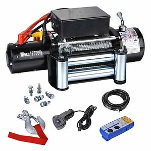 Biz 12v 6hp 12000lbs Off Road Electric Winch For Suv Trailer Jeep Truck 12000f
