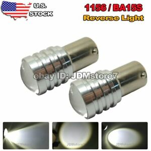 2x White 1156 Ba15s Car Projector Lens Led Bulbs Backup Reverse Back Up Light
