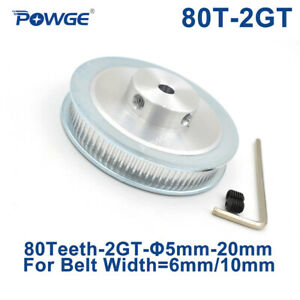 80 Teeth 2gt Pulley Bore 5 6 35 8mm For Width 6mm Gt2 Timing Belt 80teeth 80t