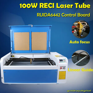 Reci 100w Laser Engraver Engraving Cutting Machine Usb Up And Down Auto Focus