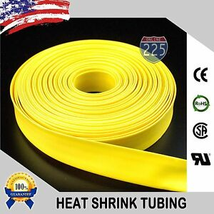 100 Ft 100 Feet Yellow 1 25mm Polyolefin 2 1 Heat Shrink Tubing Tube Cable Us
