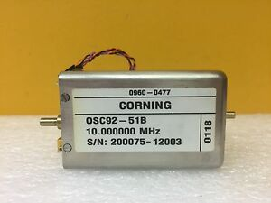 Hp 0960 0477 Corning Osc92 51b 10 000 Mhz Precision Quartz Oscillator Tested